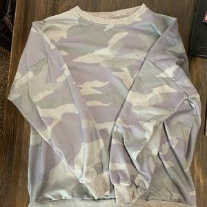 Other - Girls slouchy camo sweatshirt
